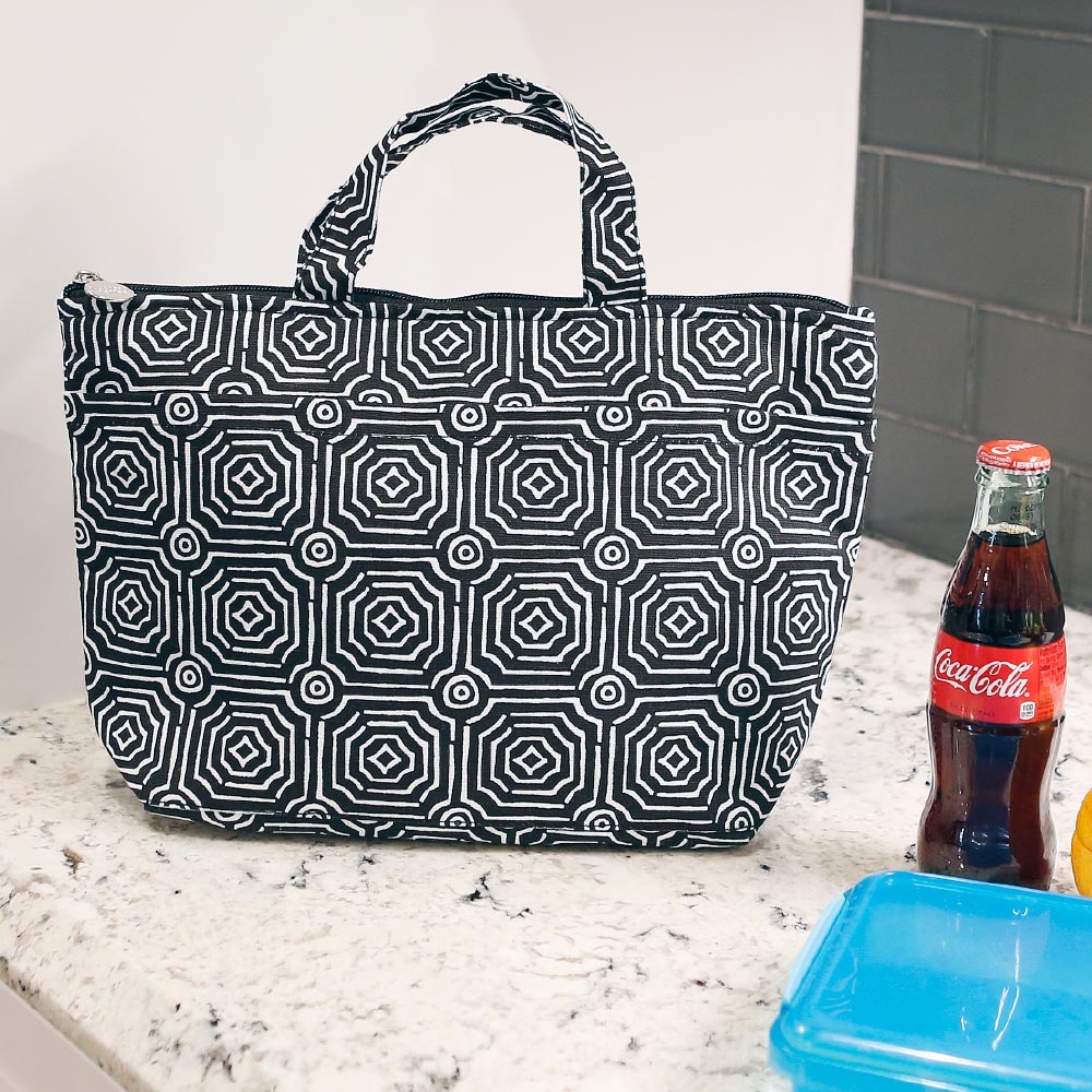 echo black lunch tote