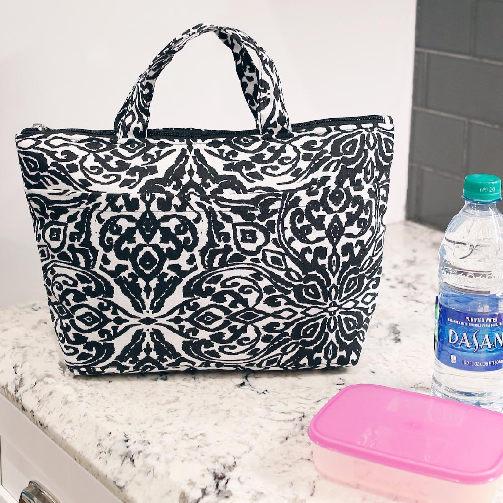 point blank black lunch tote