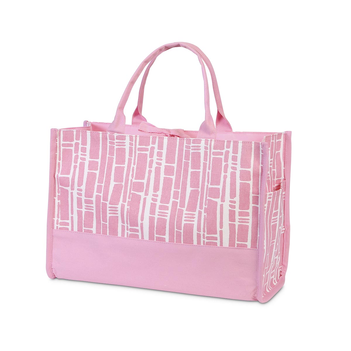 bamboo baby pink open tote