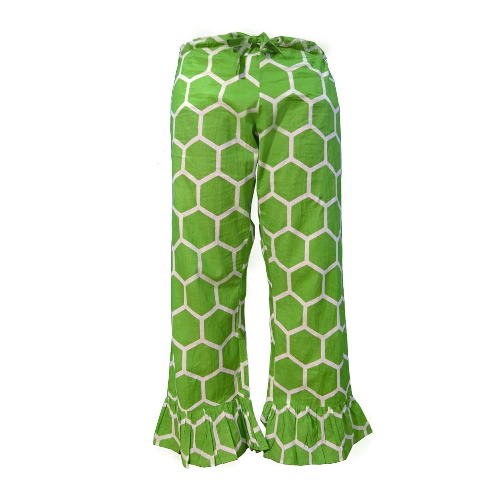 the bee line green lounge pants