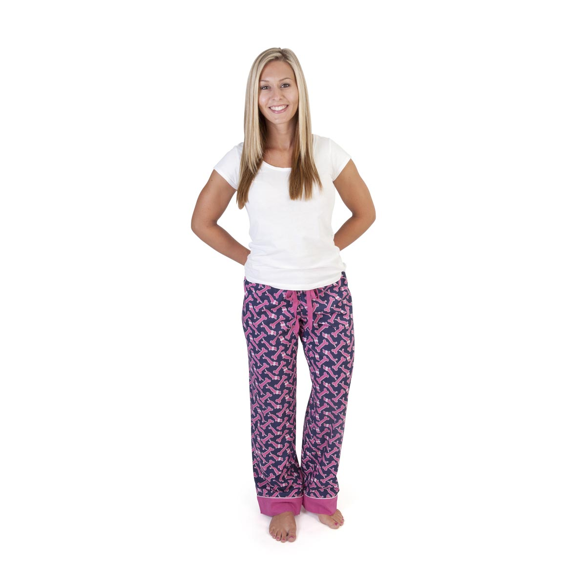 so fetch navy/pink lounge pants