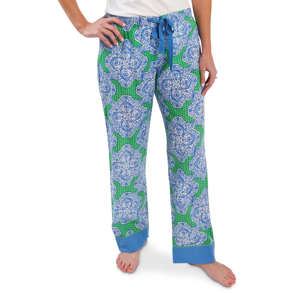 mai tai green/royal lounge pants