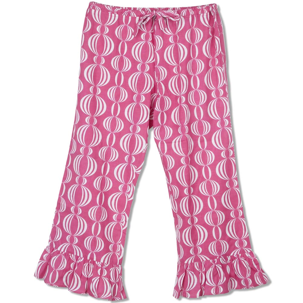 pink pearly girly lounge pants