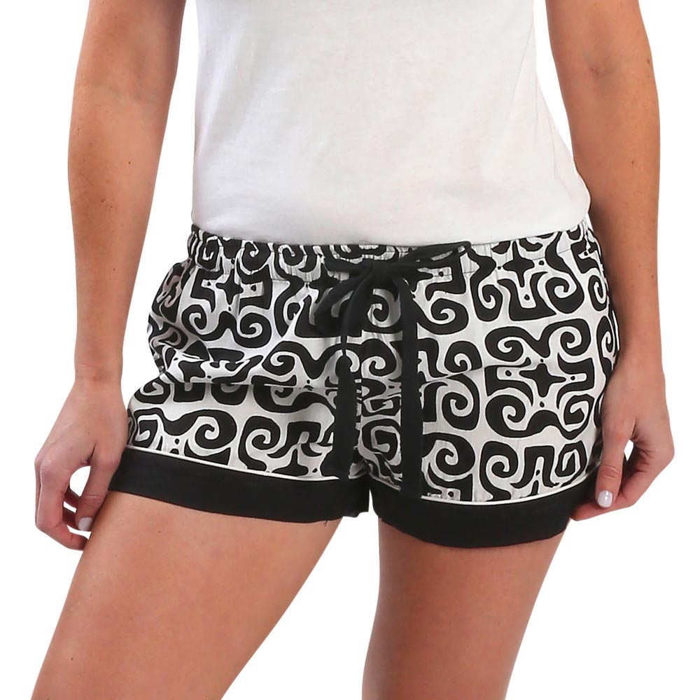 don't fret black lounge shorts
