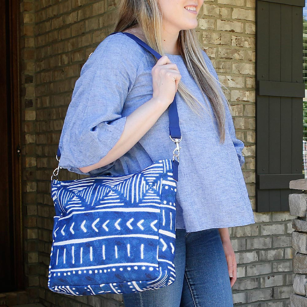 indigo daze messenger bag