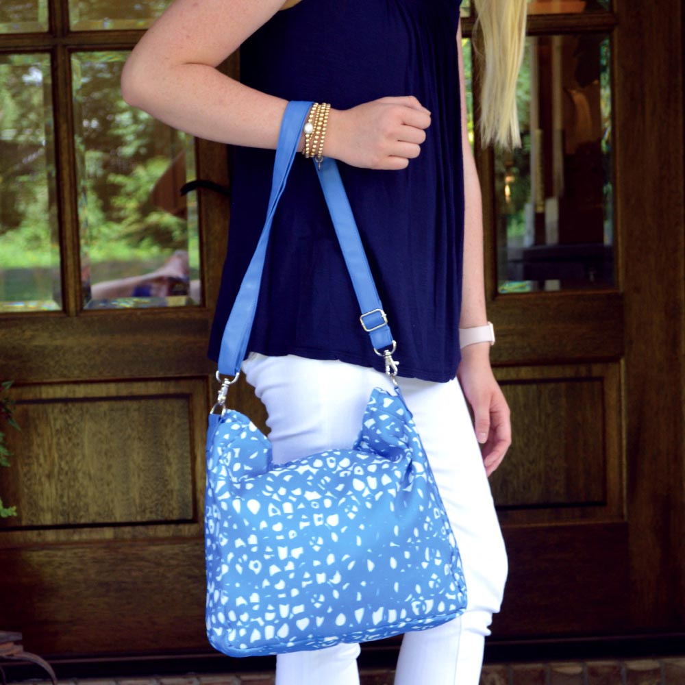 hoopla blue messenger bag