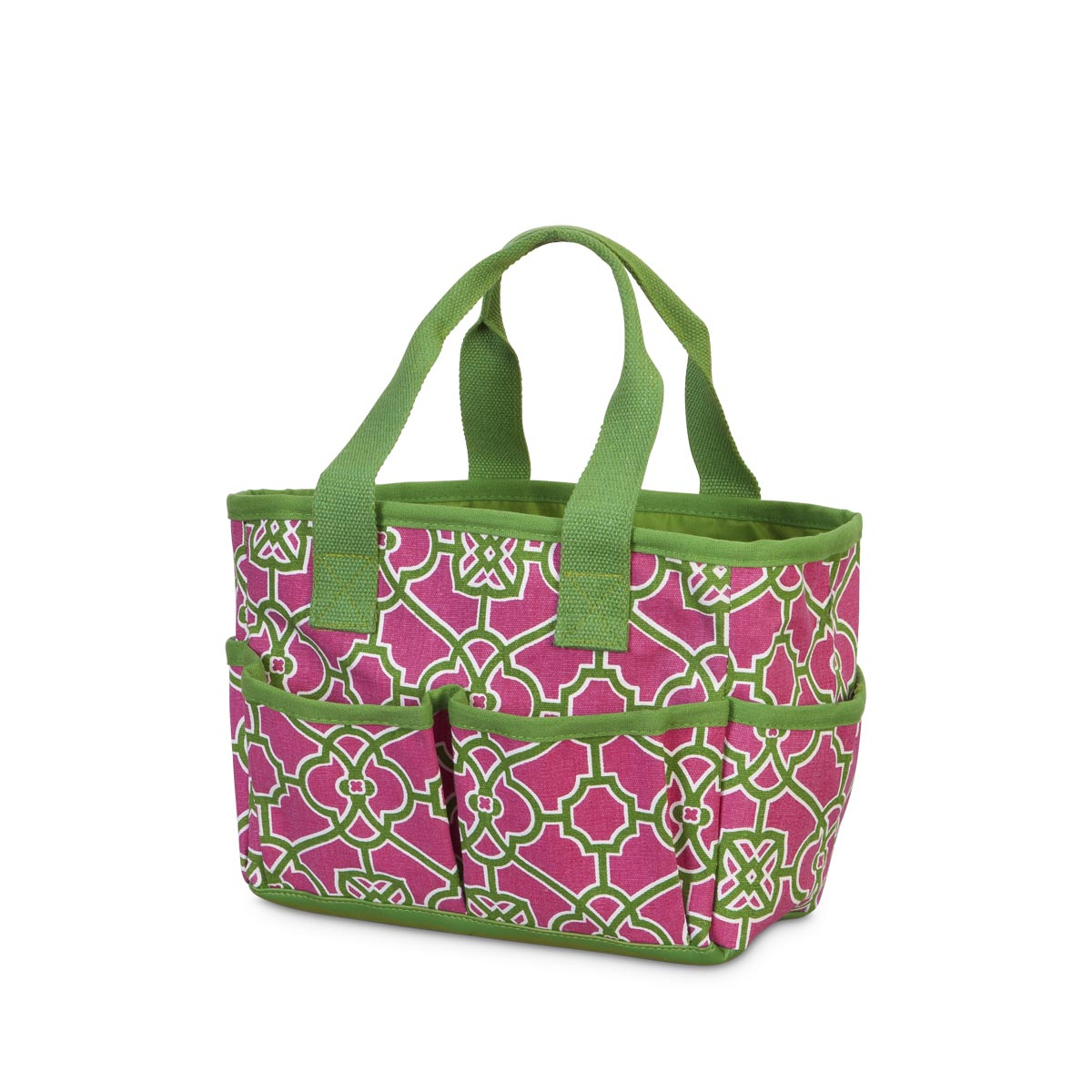 veranda pink/green mini everyday tote