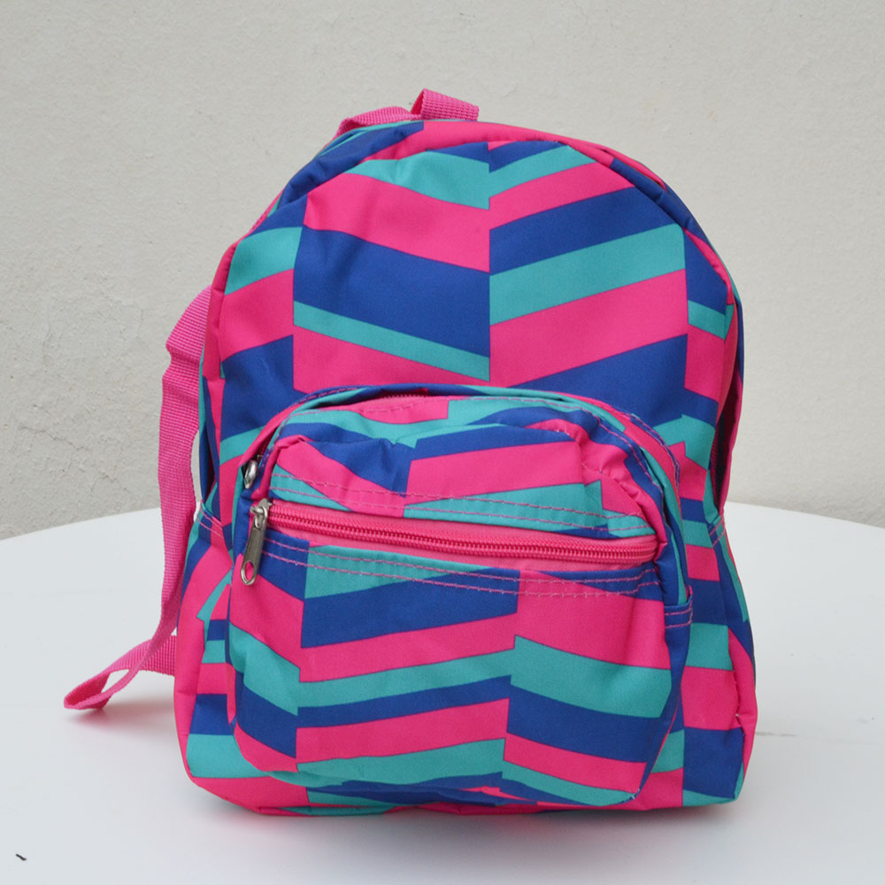 gemostric pink and blue small backpack