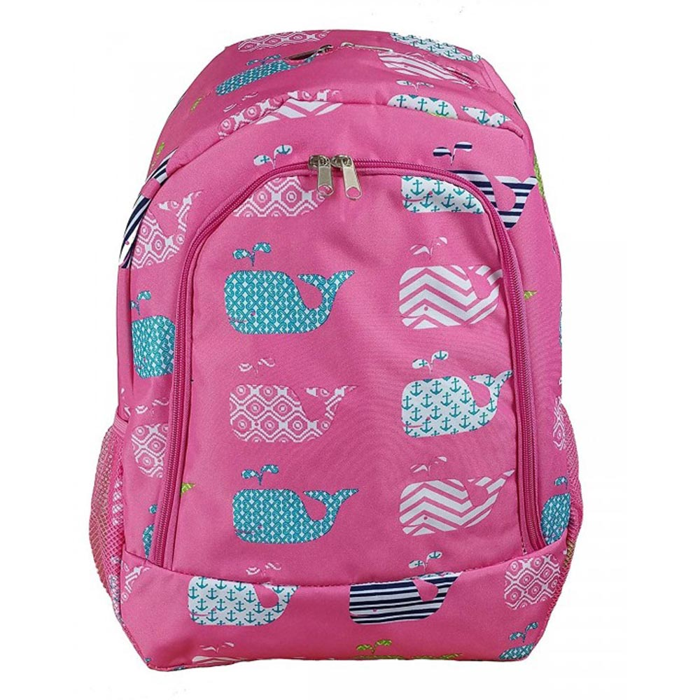 pink with whales backpack