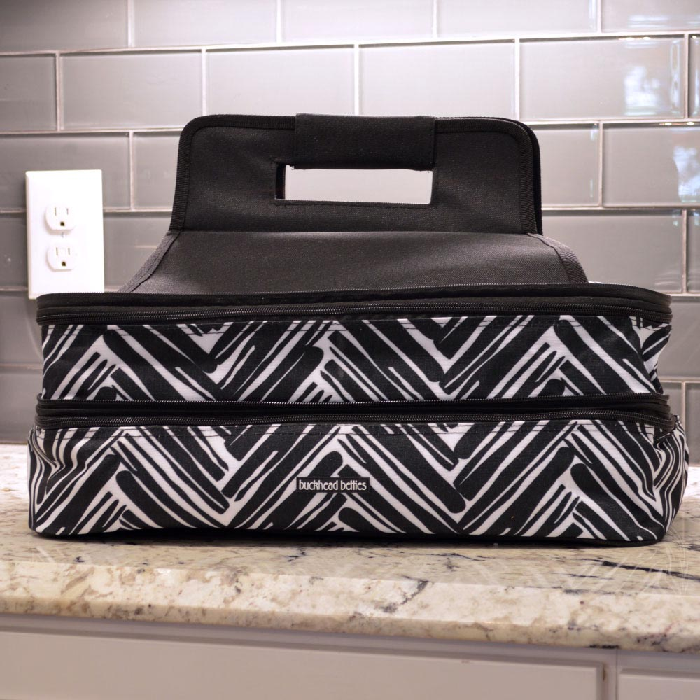 twill do double casserole carrier