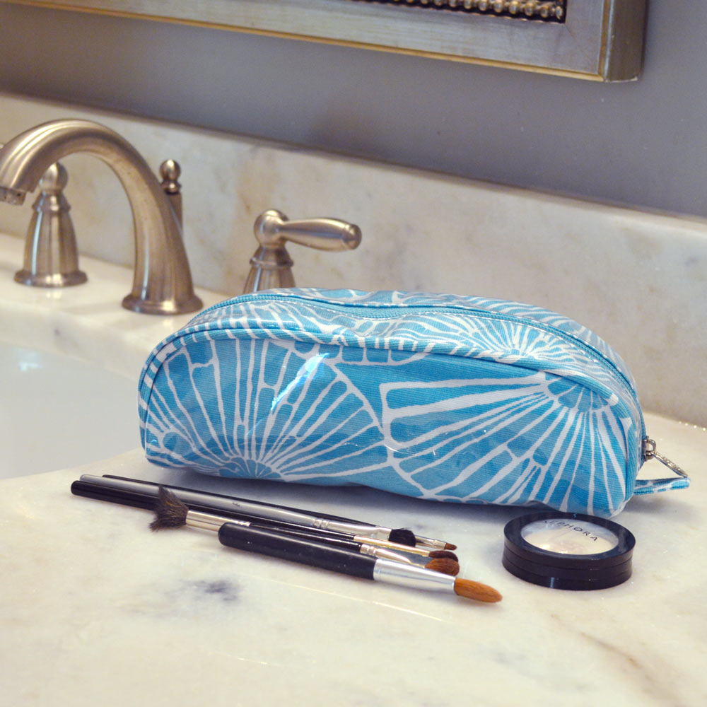 full circle turquoise pencil pouch