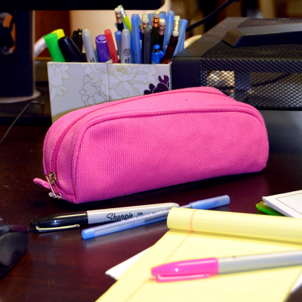pencil and brush case durry pink