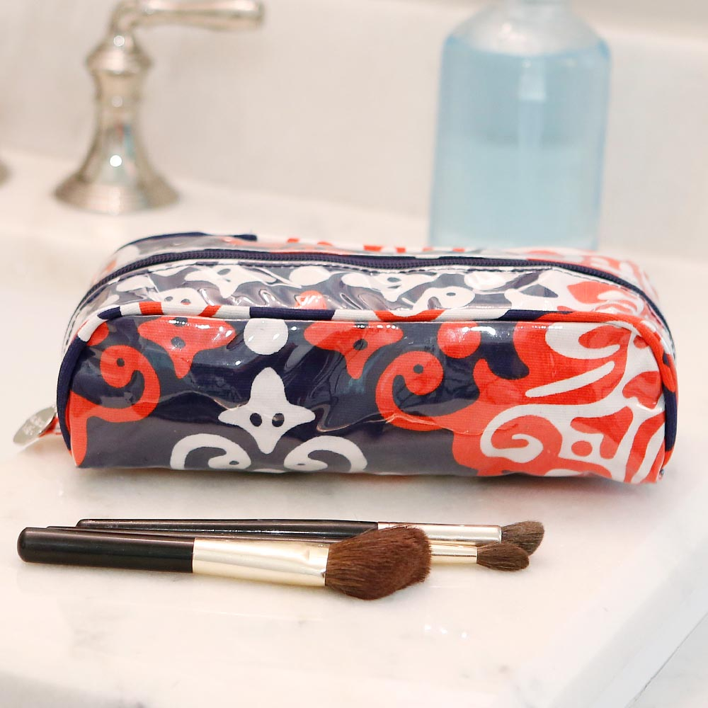 sangria pencil and brush pouch