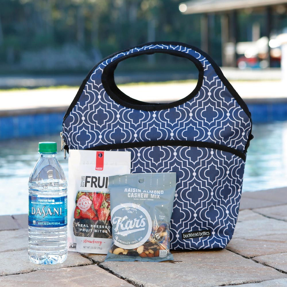 in the loop blue lunch cooler bag