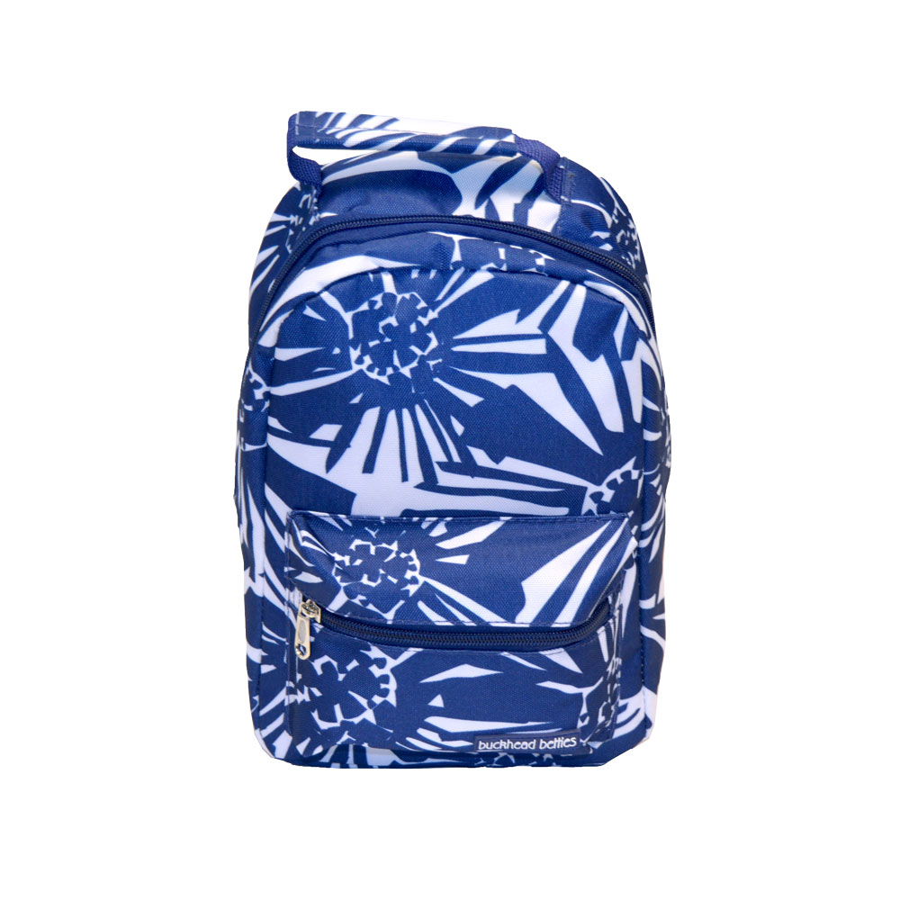 mosaic floral navy lunch backpack