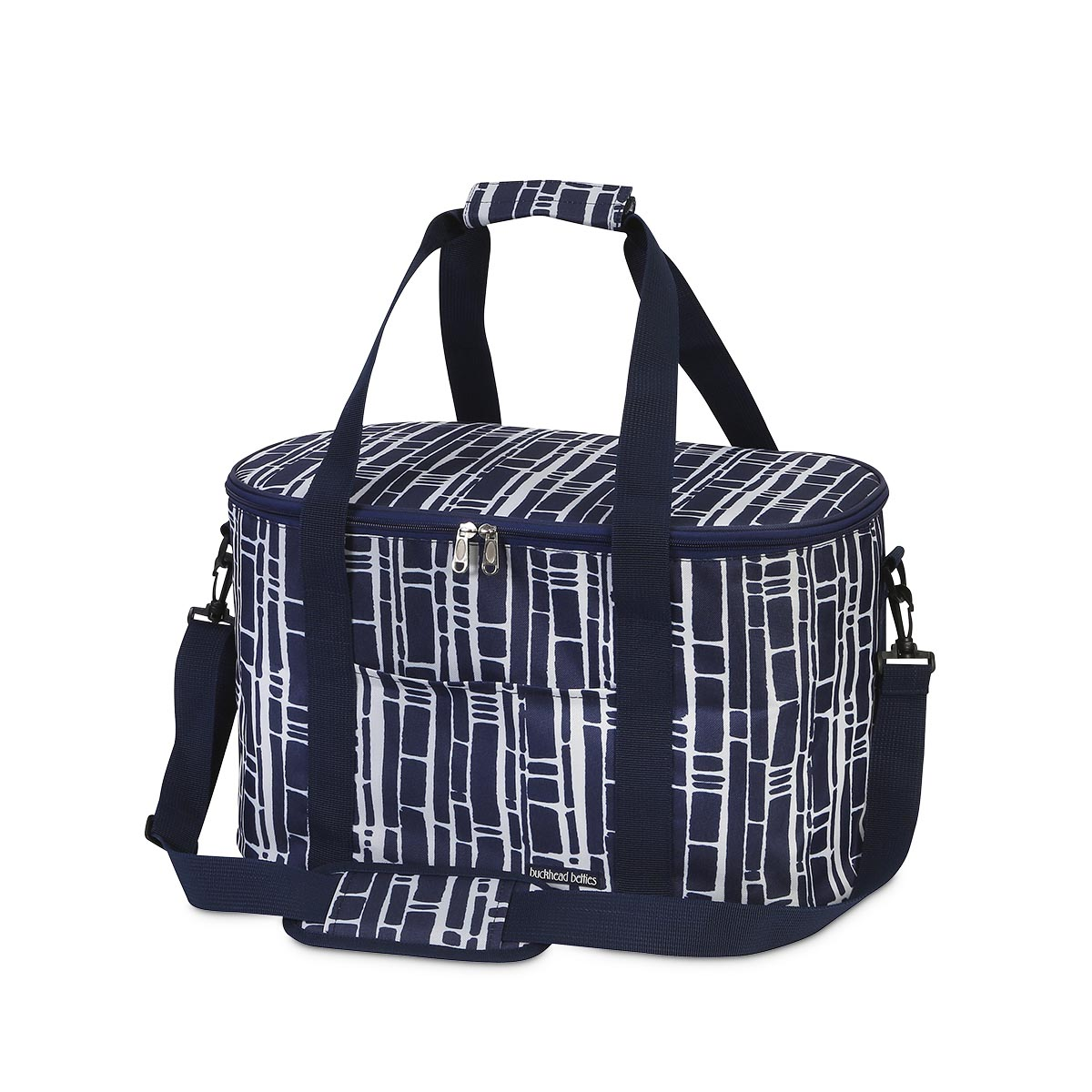 bamboo navy oval cooler