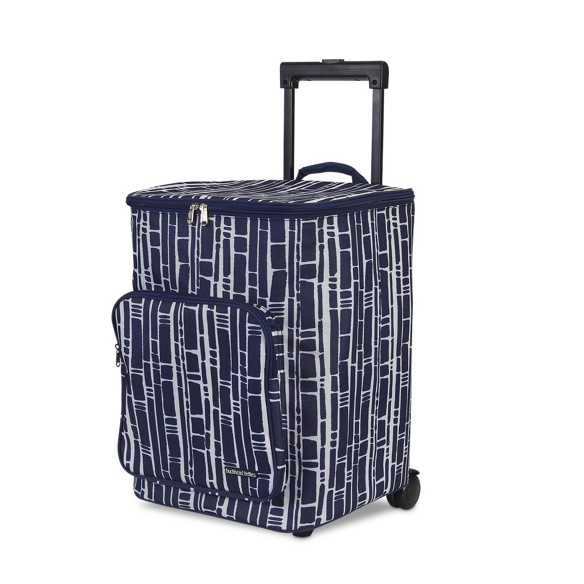 bamboo navy rolling cooler