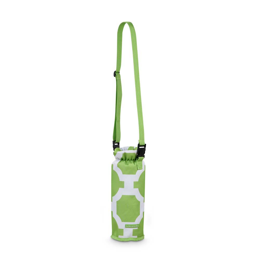 drop the latitude green insulated wine bag