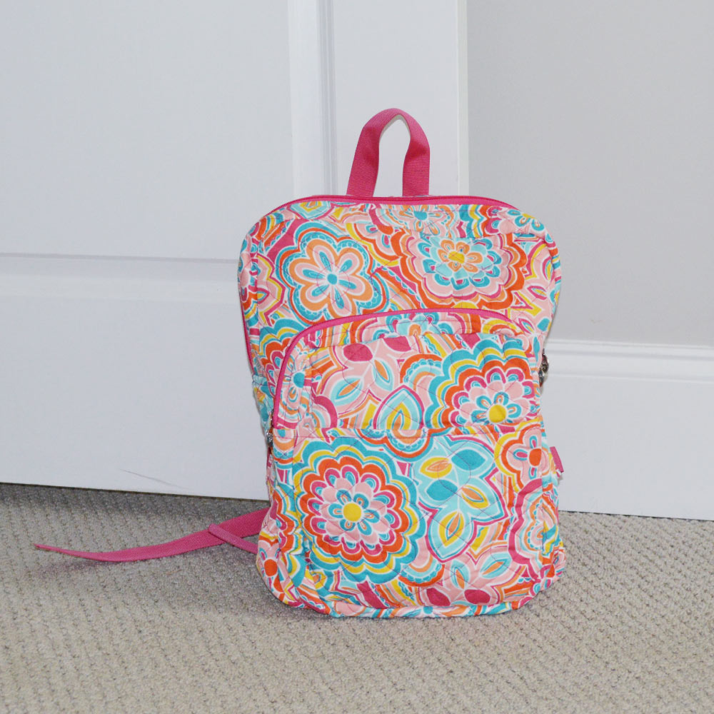 flower power quilted backpack