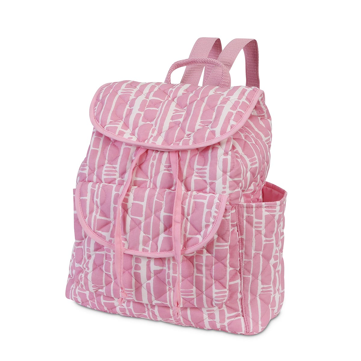 bamboo baby pink quilted backpack