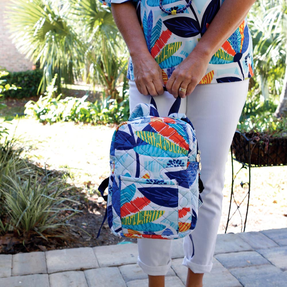 lei'd back quilted small backpack
