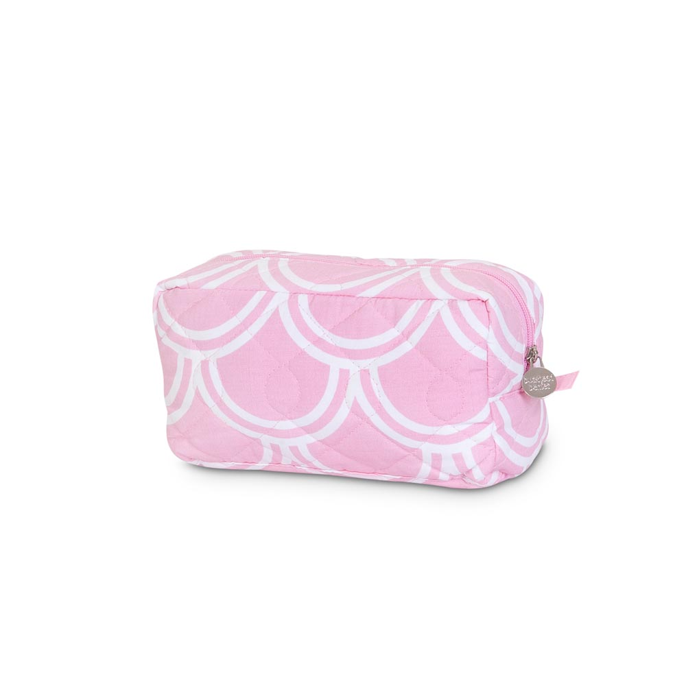 harbor bae baby pink quilted cosmetic