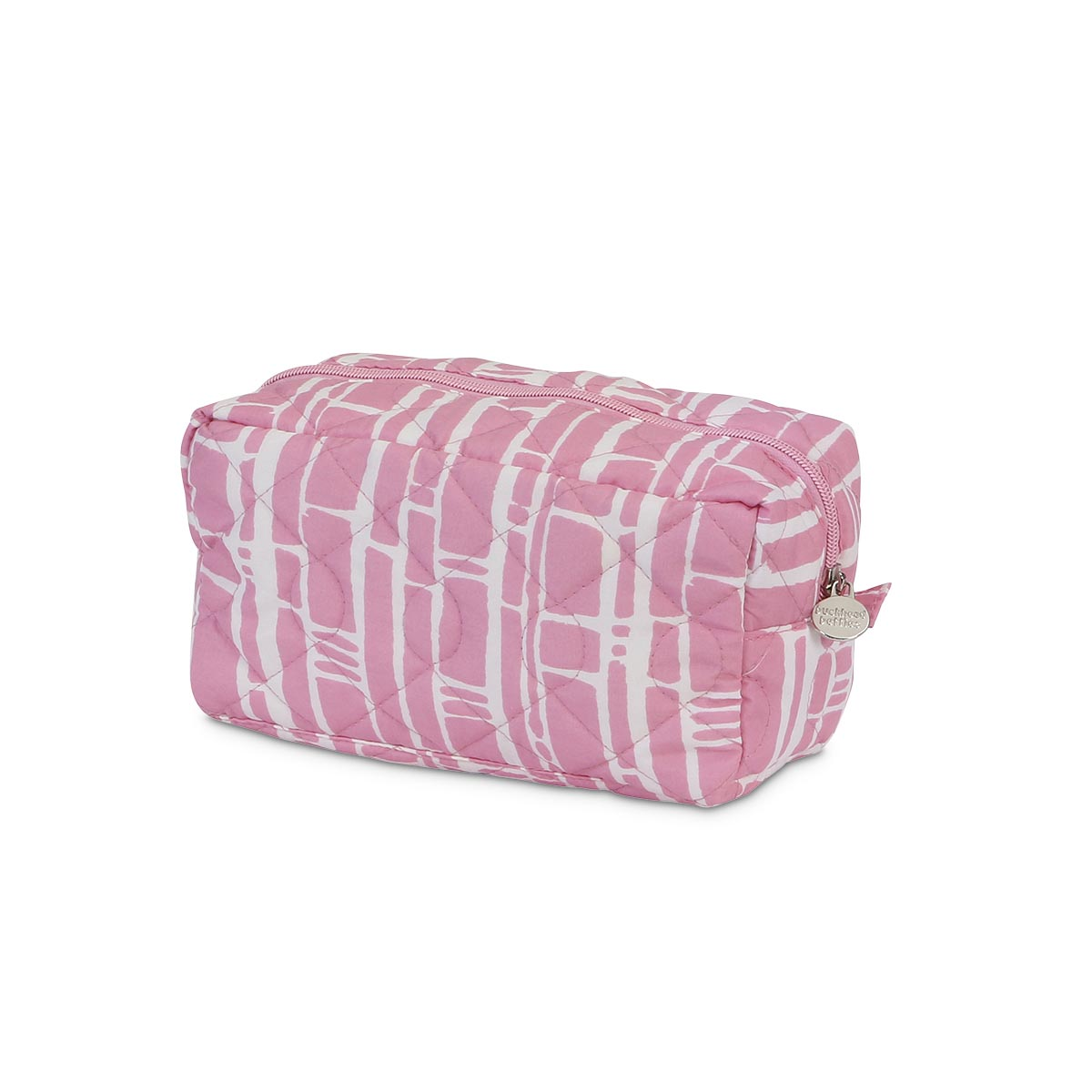 bamboo baby pink quilted cosmetic