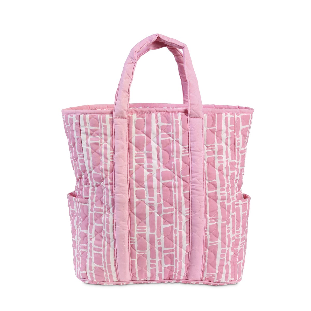 bamboo baby pink quilted harper tote