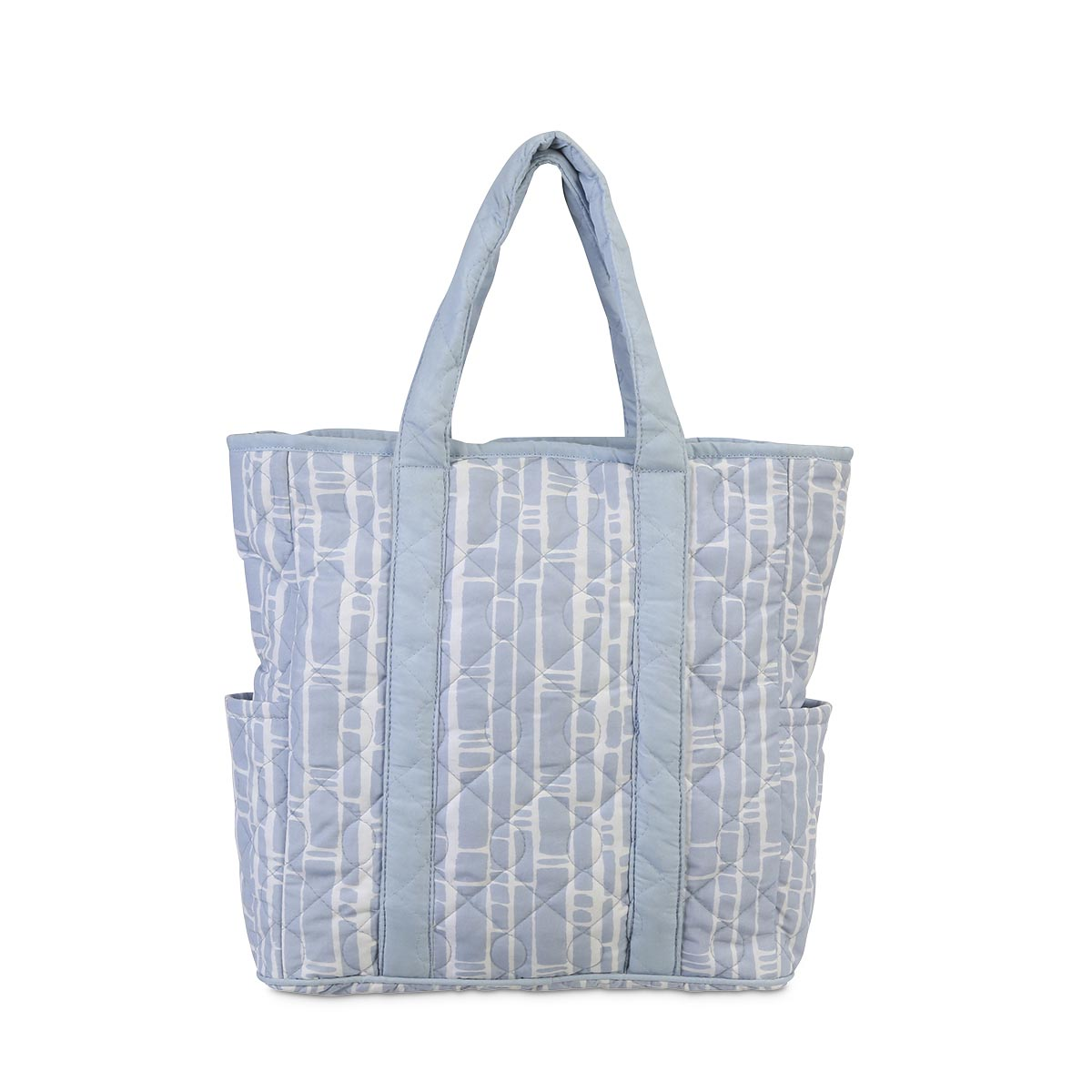 bamboo baby blue quilted harper tote