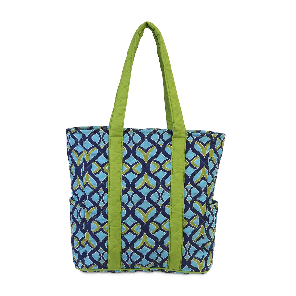 tango twist navy quilted harper tote