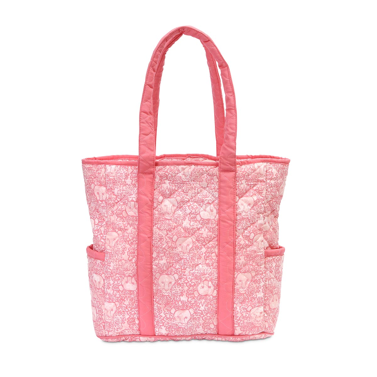 lion around pink quilted harper tote