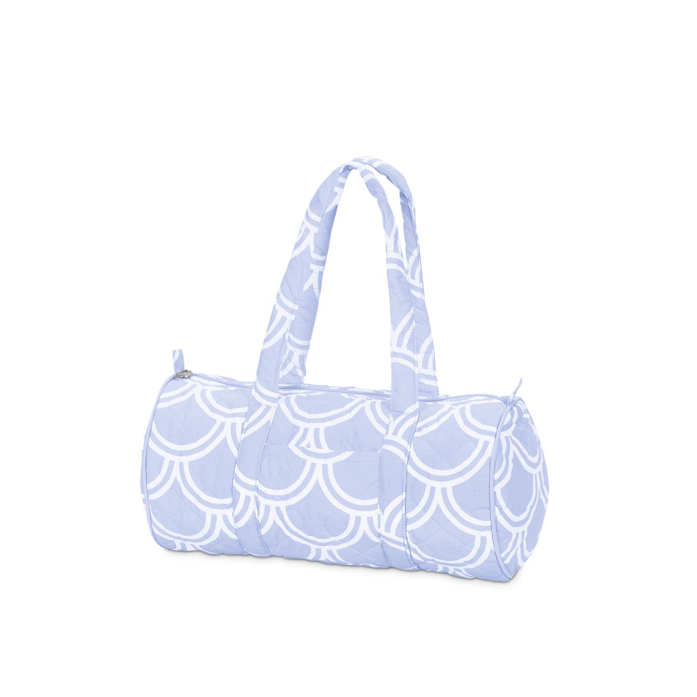 harbor bae baby blue quilted small duffle