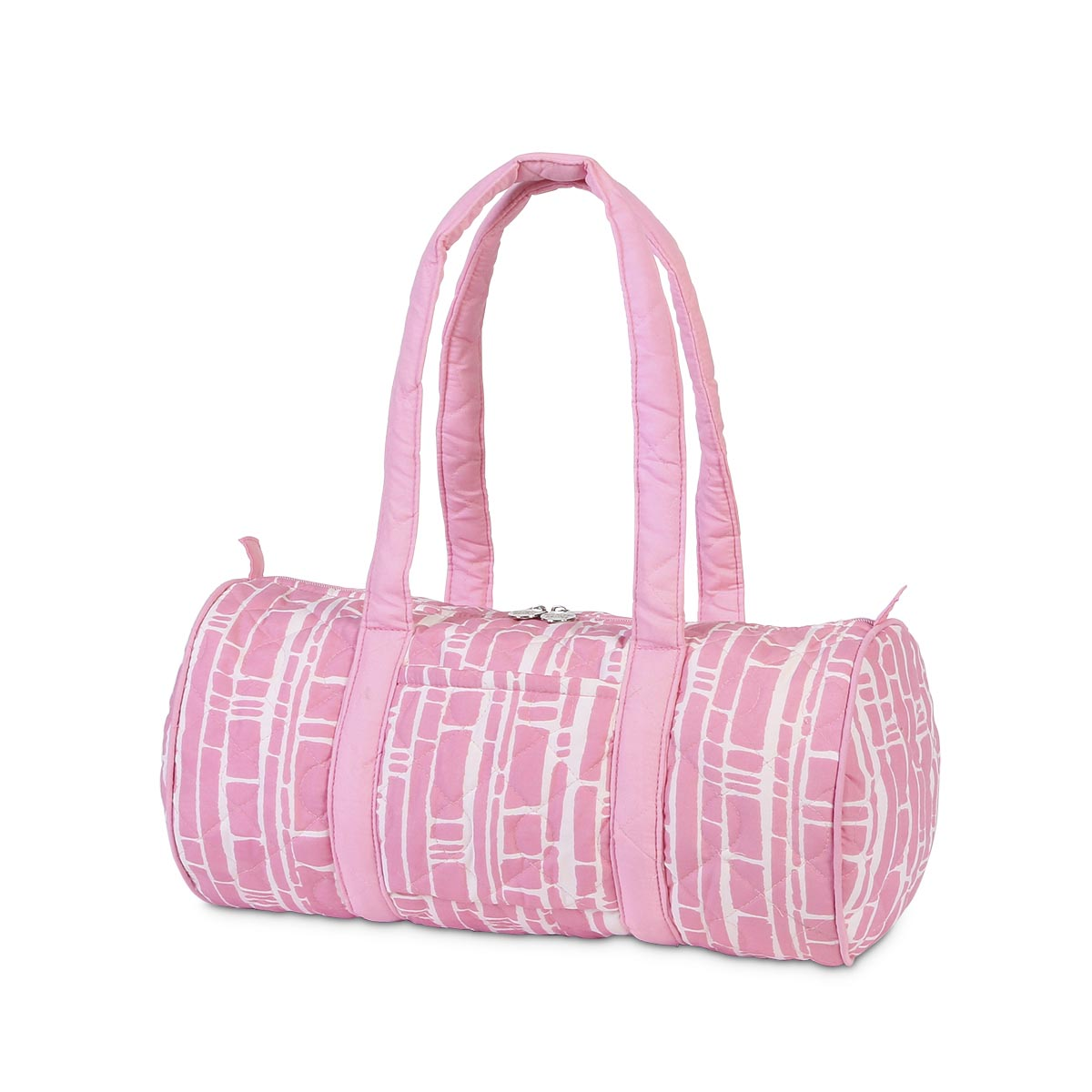bamboo baby pink quilted small duffle