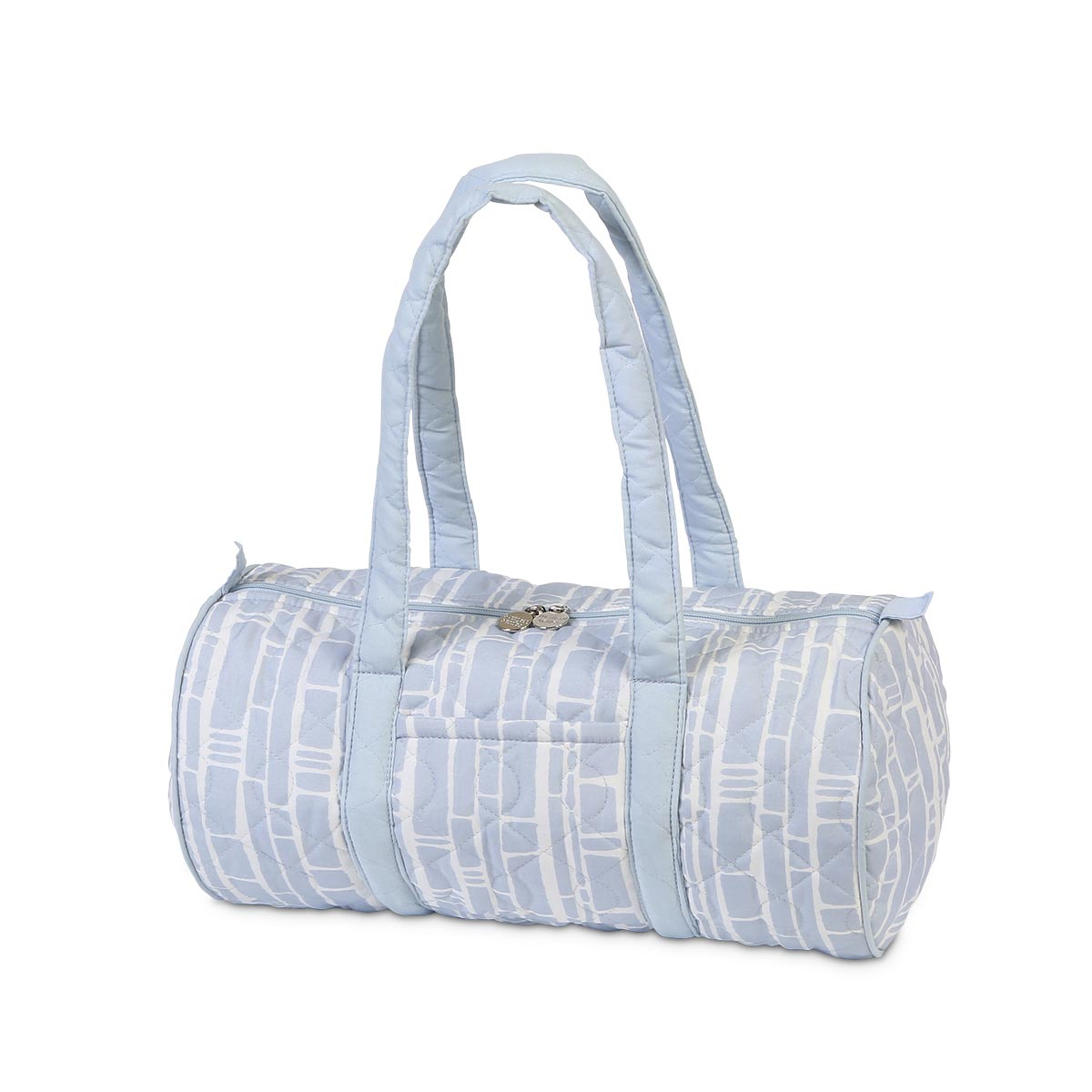 bamboo baby blue quilted small duffle