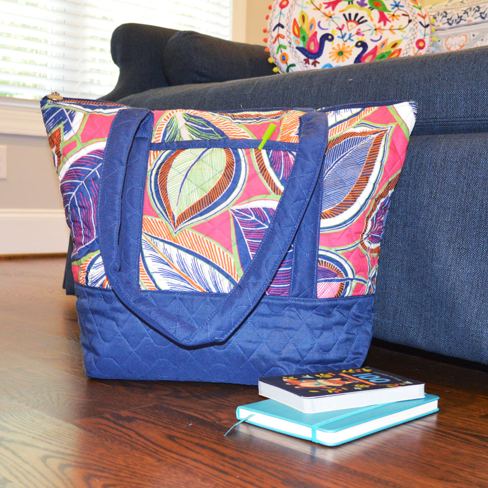 feather or not quilted tote