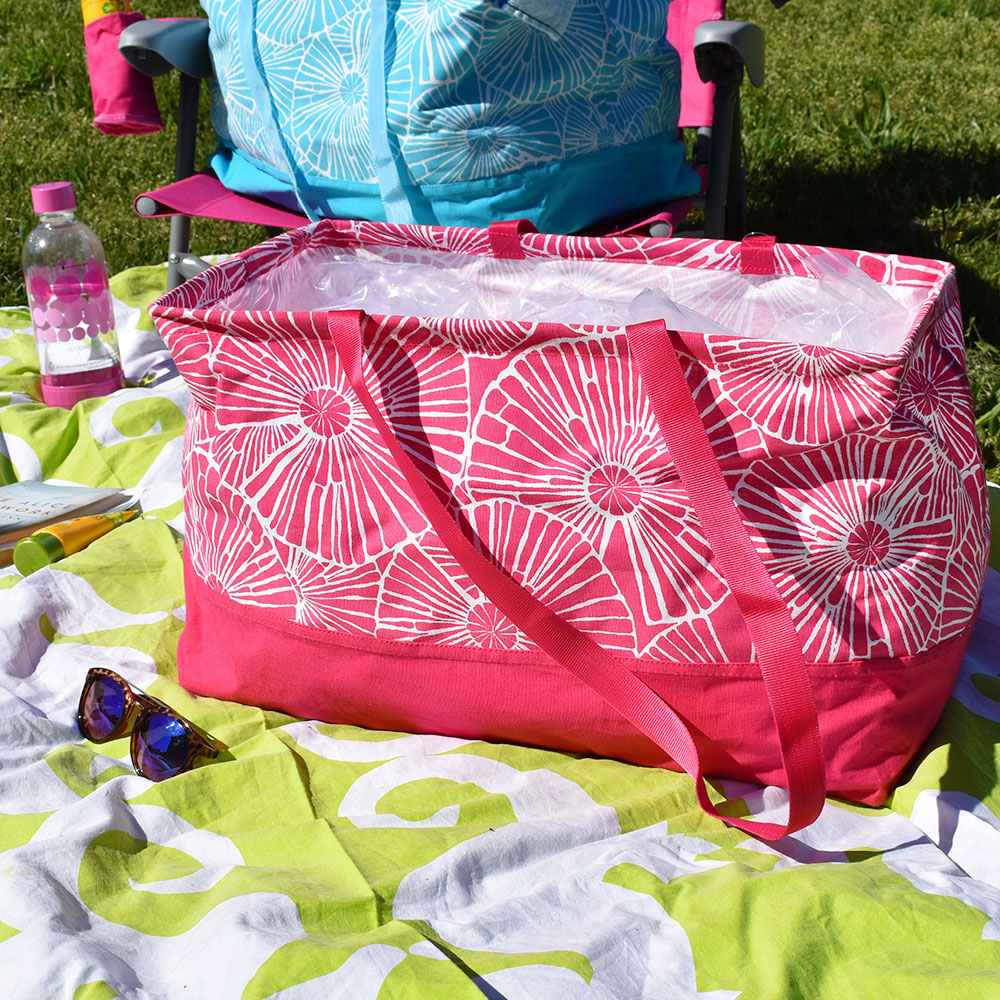 full circle pink rectangle storage tote