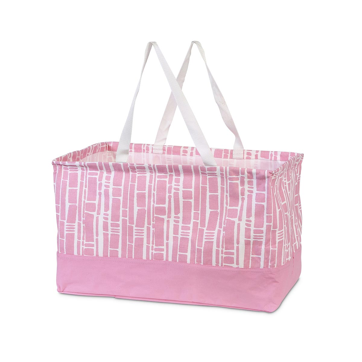 bamboo baby pink rectangle crunch