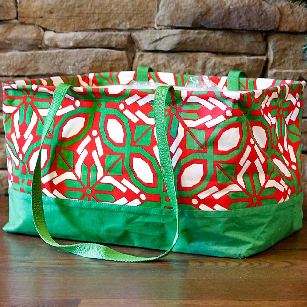 cantina red/green rectangle storage tote
