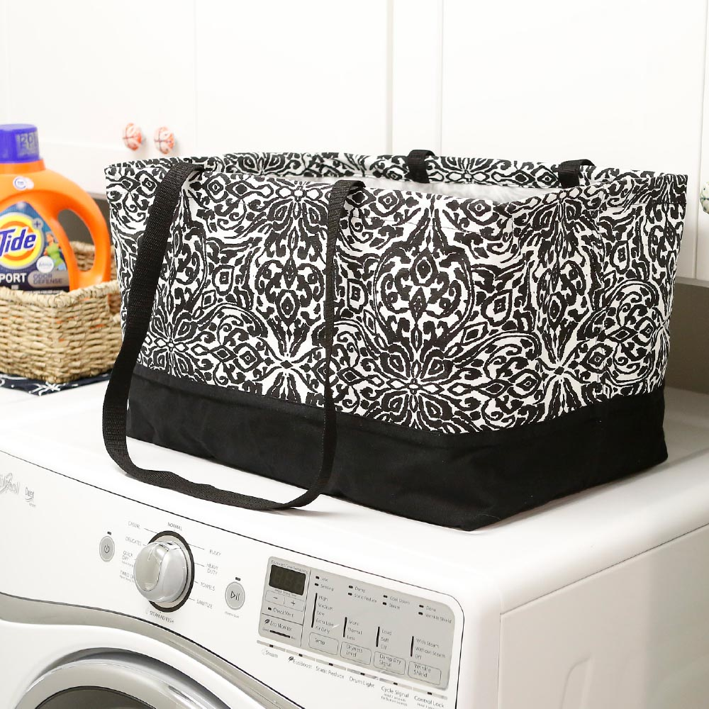 point blank black rectangle storage tote