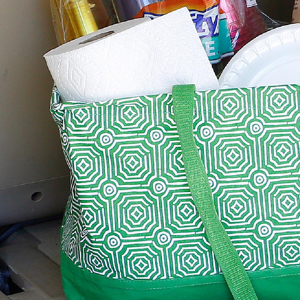 echo green rectangle storage tote