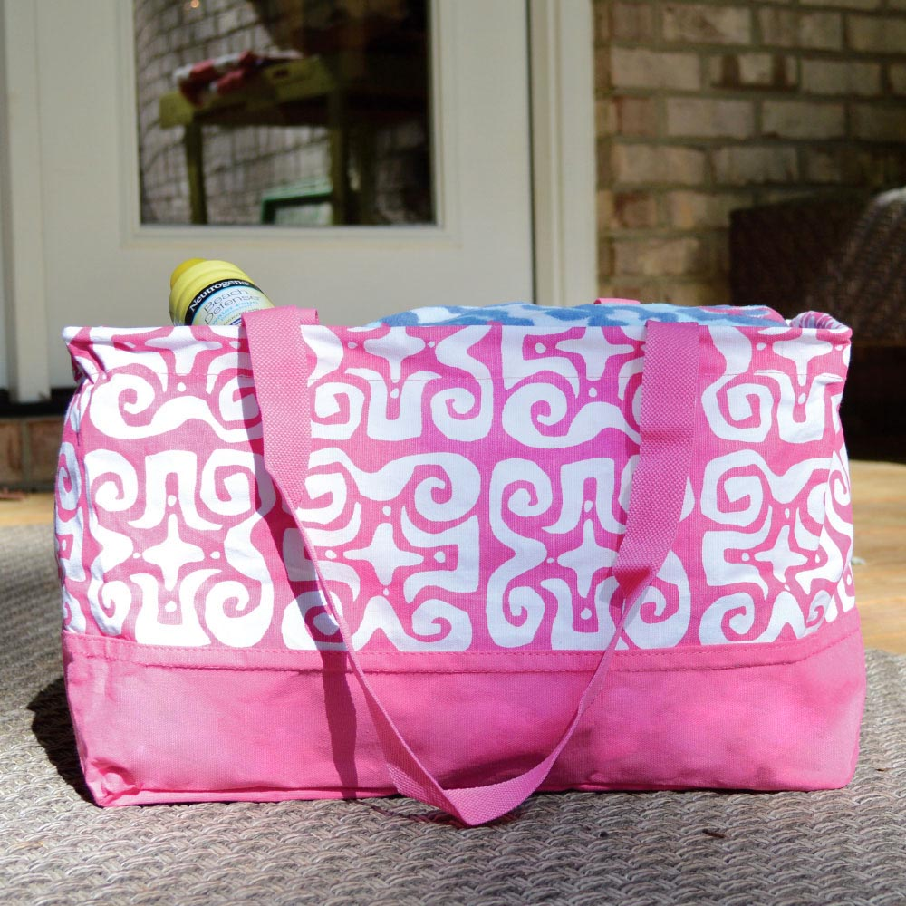 don't fret pink rectangle storage tote petite