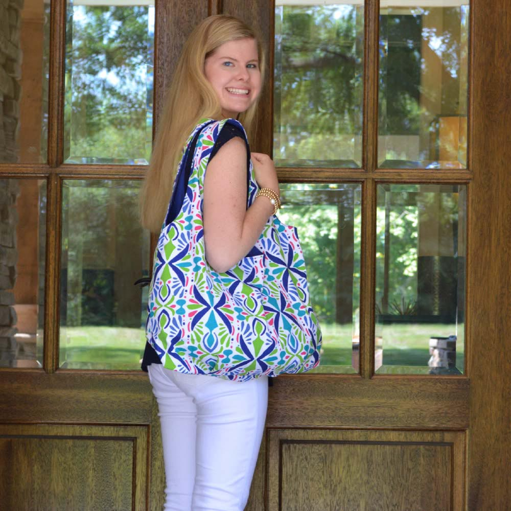 a little off tropic reversible HOBO bag