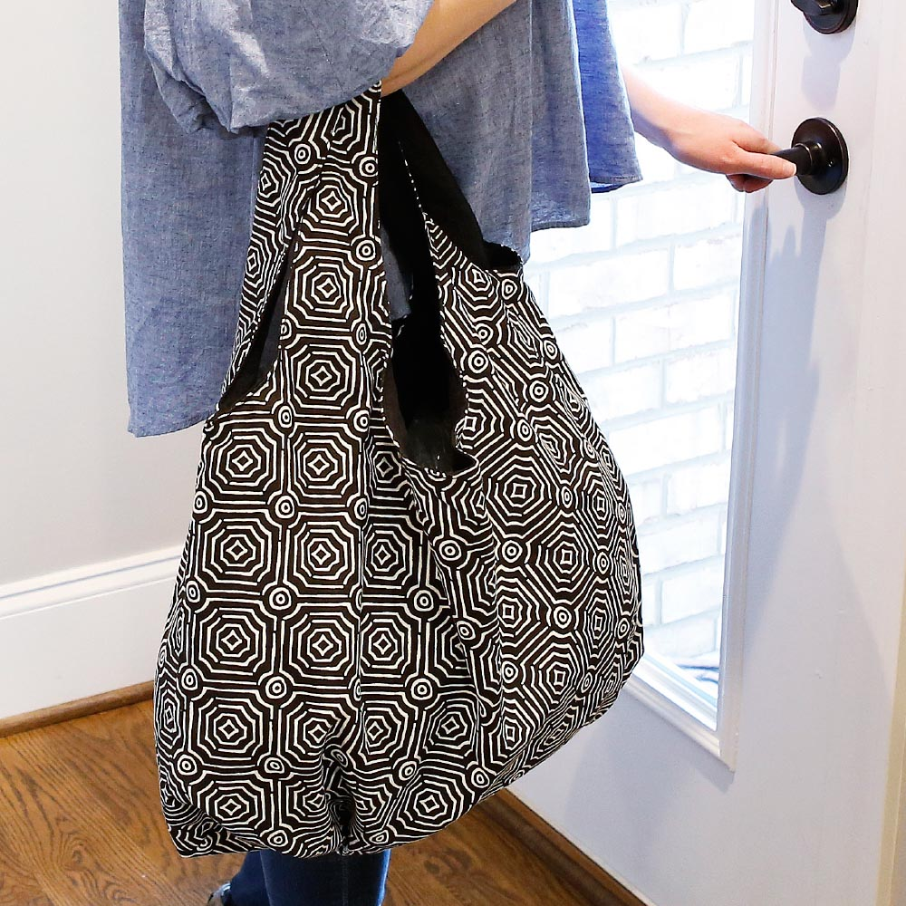 echo black reversible HOBO bag