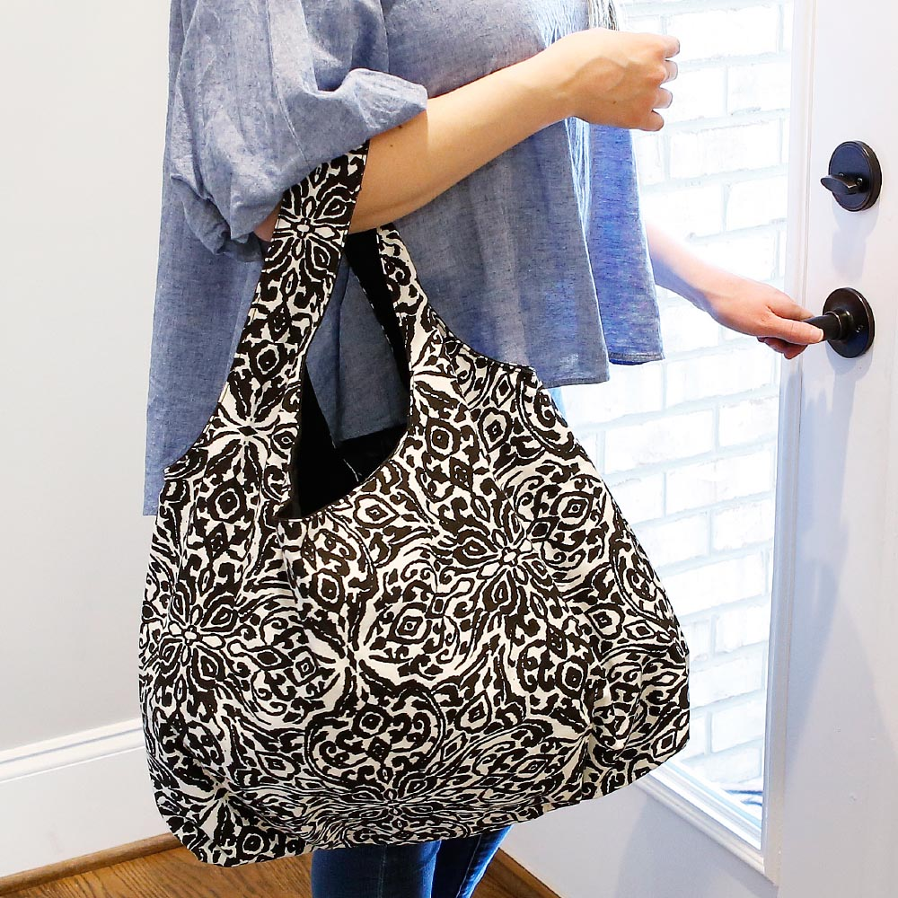 point blank black reversible HOBO bag