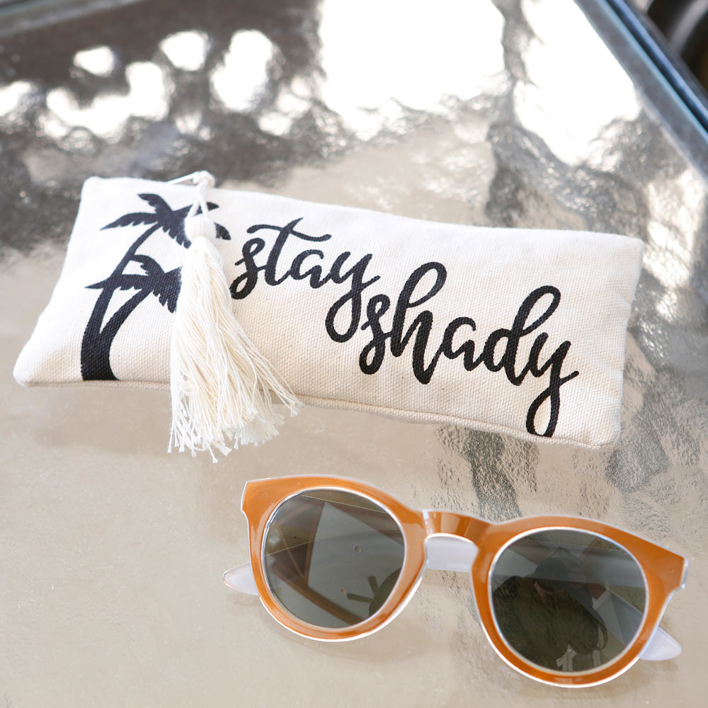 stay shady zipper sunglass case