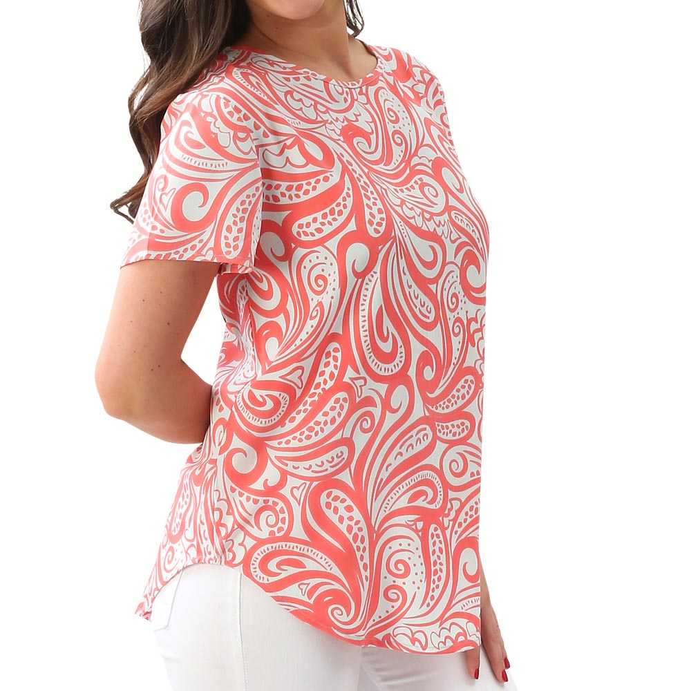 french bliss coral/mint finland shirt