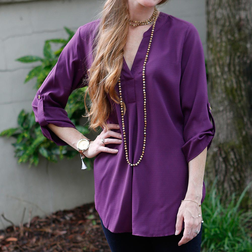 black plum gabby top