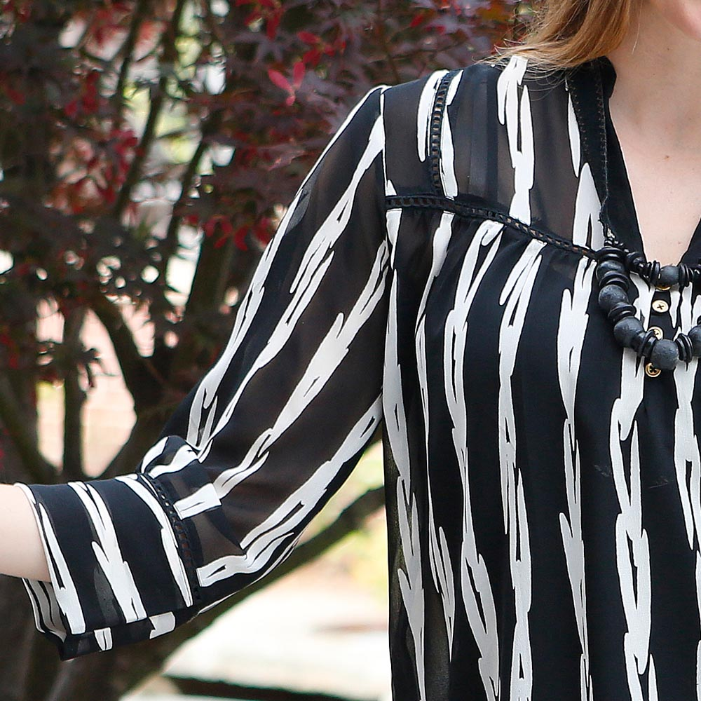 on the fence jules georgette top