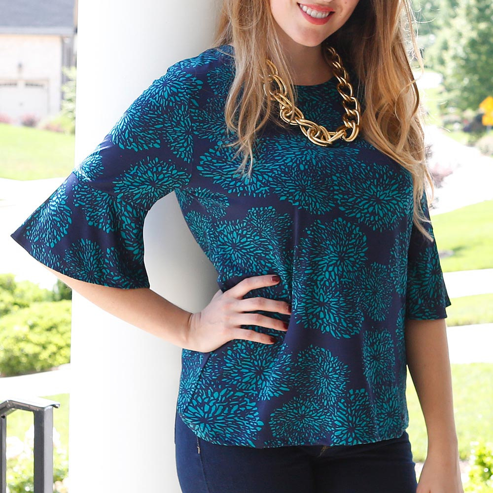 just bloom cora poly-knit top