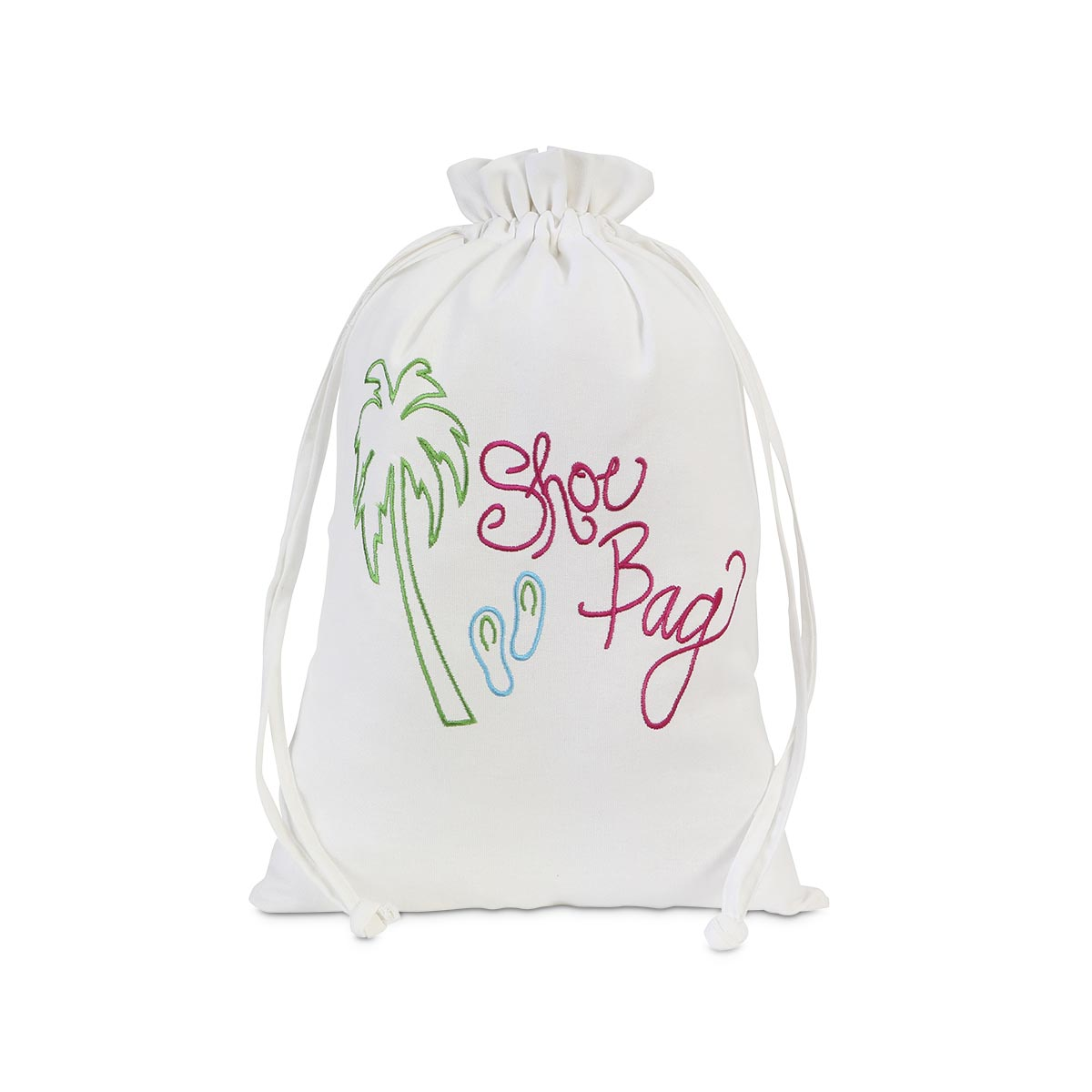 embroidered drawstring shoe bag